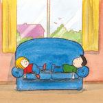 Mons og Mona kjeder seg på sofaen