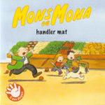 Omslag, Mons og Mona handler mat, Mons, Mona og Boffen løper fra butukksjefen