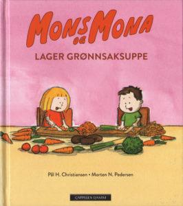 Omslag, Mons og Mona lager grønnsaksuppe, Mons og Mona skjærer grønnsaker