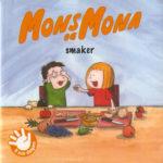 Omslag, Mons og Mona smkaer, Mona gir Mons en bit frukt