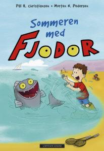 Omslag sommeren med fjodor, Fjodor og Palle leger på stranden
