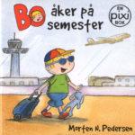 Omslag, Bo åker på semester, Bo går med koffert på flyplassen