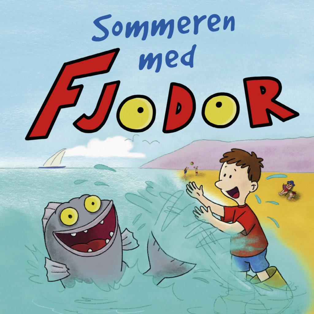 Omslag sommeren med Fjodor, Fjodor og Palle leker på stranden
