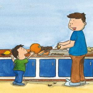 Mons spør pappa hva en grapefrukt er