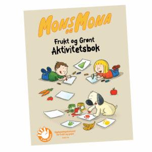 Omslag, Mons og Mona aktivitetstbok, Mons, Mona og Boffen tegner og maler