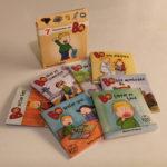 Pixibox: Bo, med bøker foran