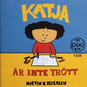 Omslag, Katja är inte trött, Katja tegner med fargestifter