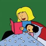 Mamma leser godnatthistorie for Katja