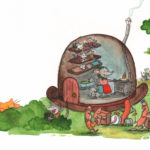 Var bor du lilla råtta? pølsejazzband, mus i ett hattehus og en redd katt