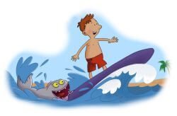 Fjodor and Palle on the ultrafiolette surfbrett