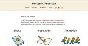 screenshot of mortenpedersen.no